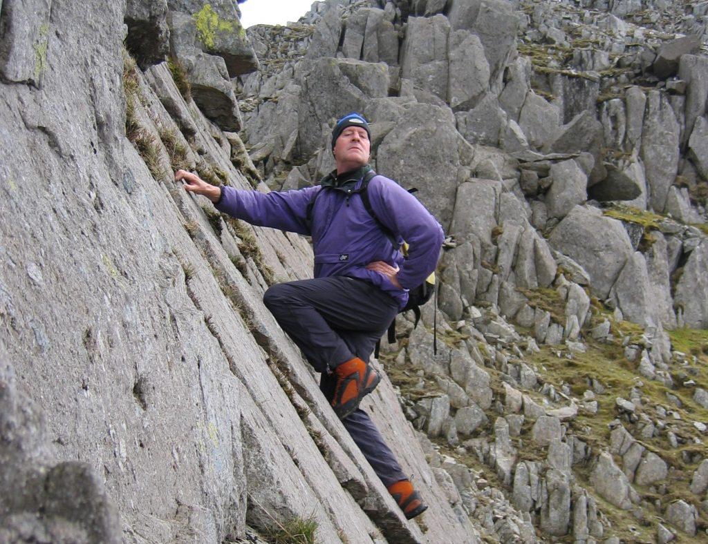 Rick Abbott scrambling in Snowdonia 2006