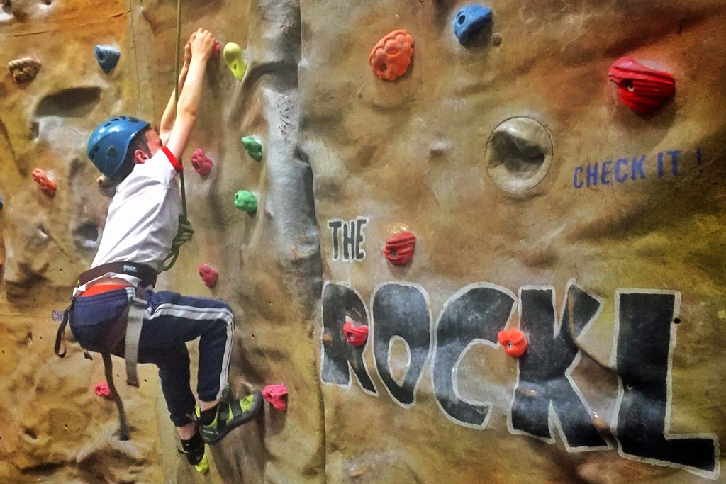 Climbing the featured Rockley wall